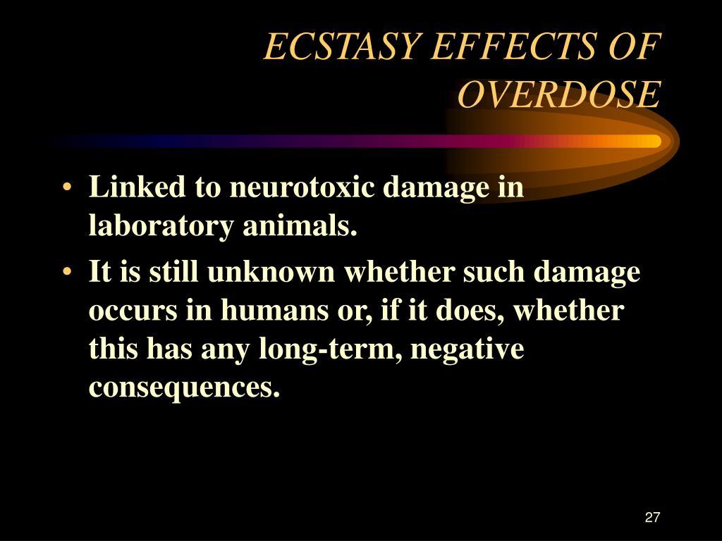 ECSTASY EFFECTS OF OVERDOSE
