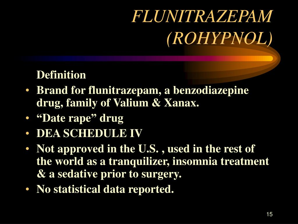 FLUNITRAZEPAM (ROHYPNOL)