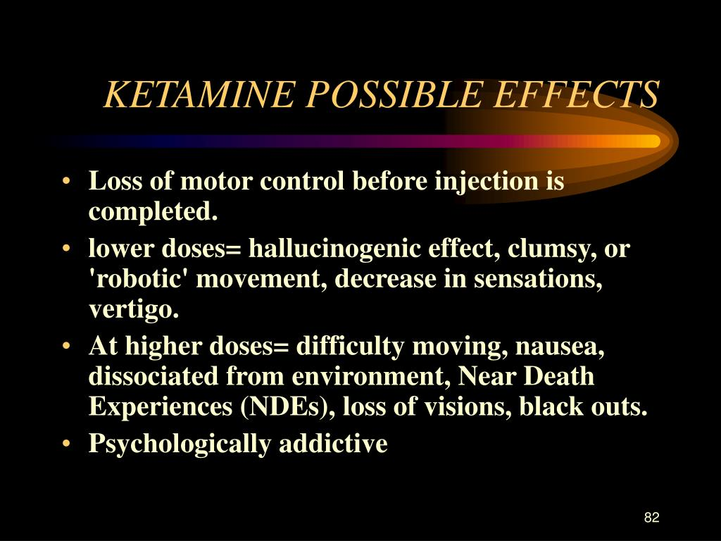 KETAMINE POSSIBLE EFFECTS