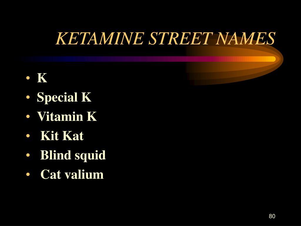 KETAMINE STREET NAMES