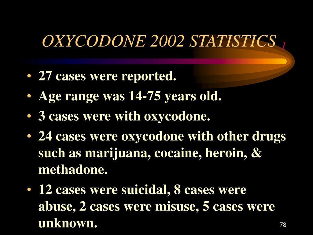 OXYCODONE 2002 STATISTICS