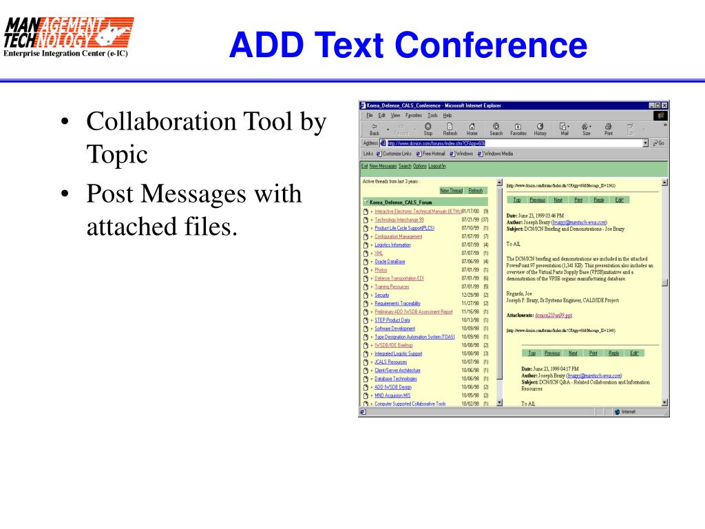 ADD Text Conference