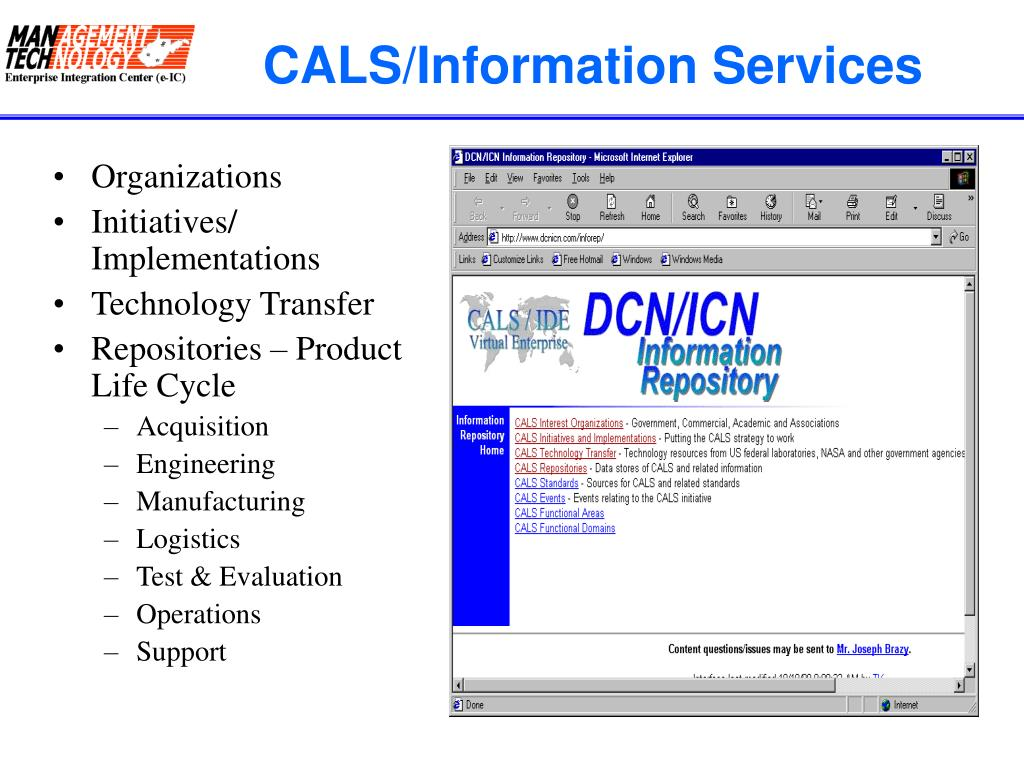 CALS/Information Services
