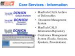 core services information