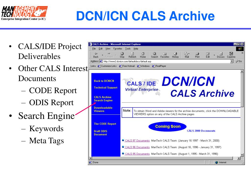 DCN/ICN CALS Archive