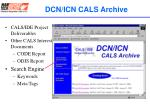 dcn icn cals archive