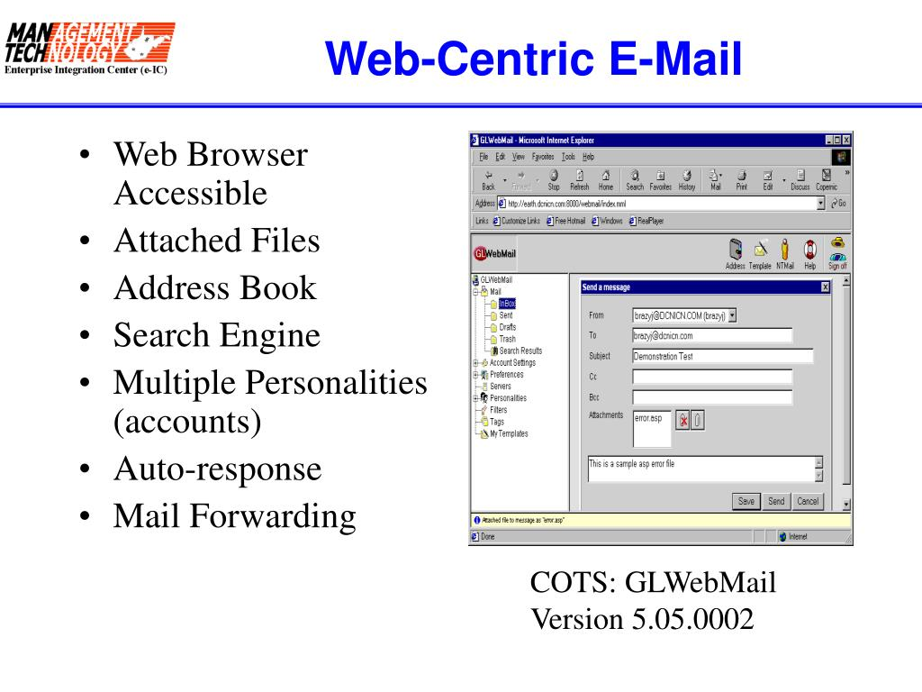 Web-Centric E-Mail