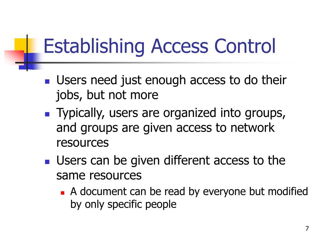 Establishing Access Control