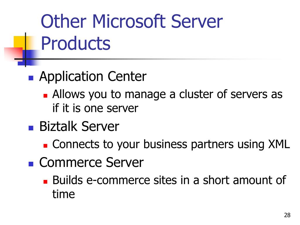 Other Microsoft Server Products