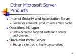 other microsoft server products29
