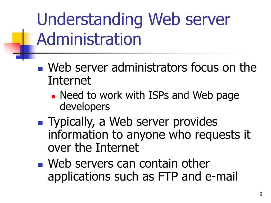 Understanding Web server Administration