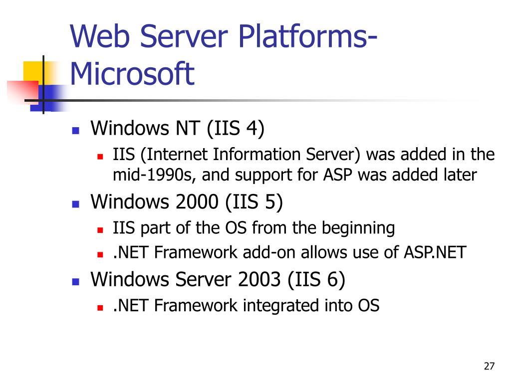 Web Server Platforms-