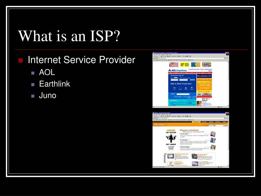 What is an ISP?