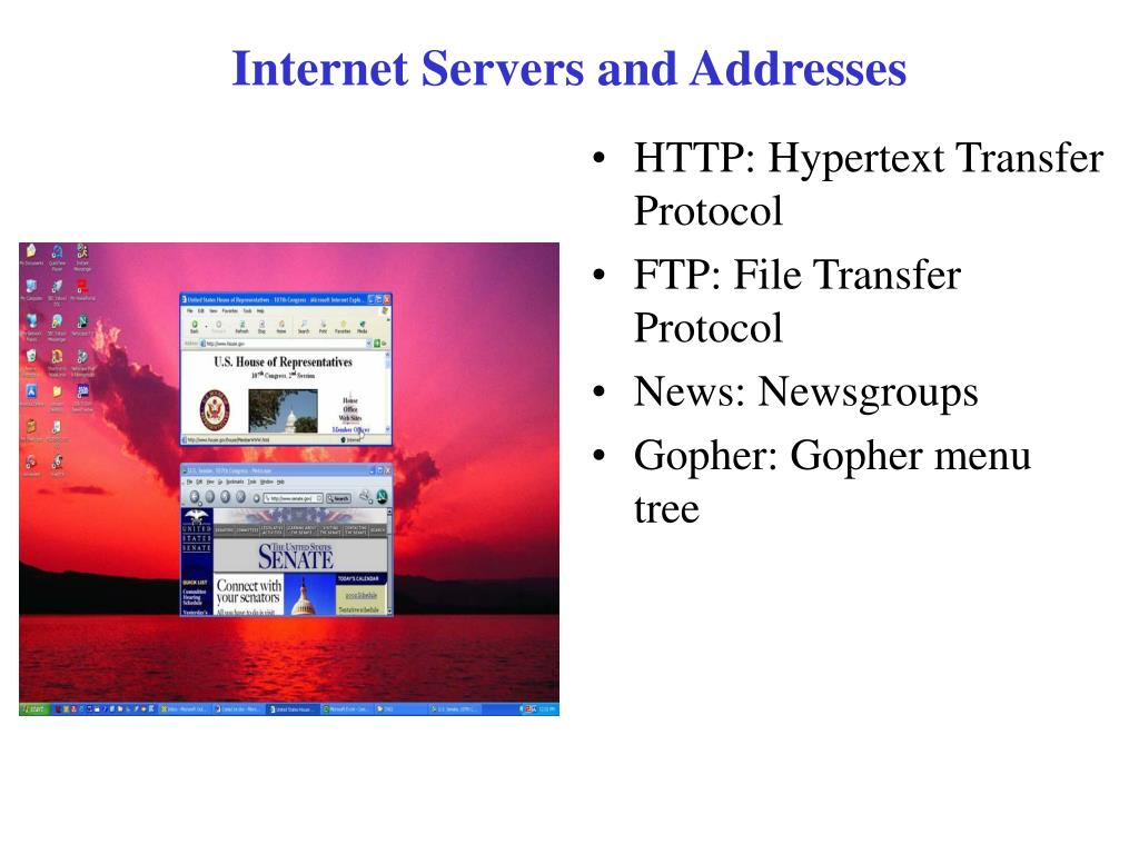 Internet Servers and Addresses