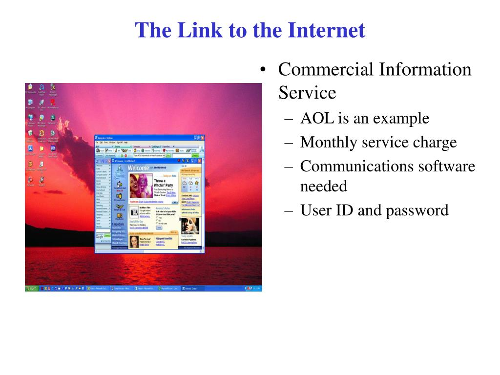 The Link to the Internet