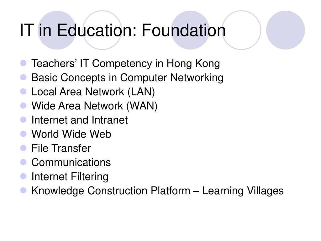 IT in Education: Foundation