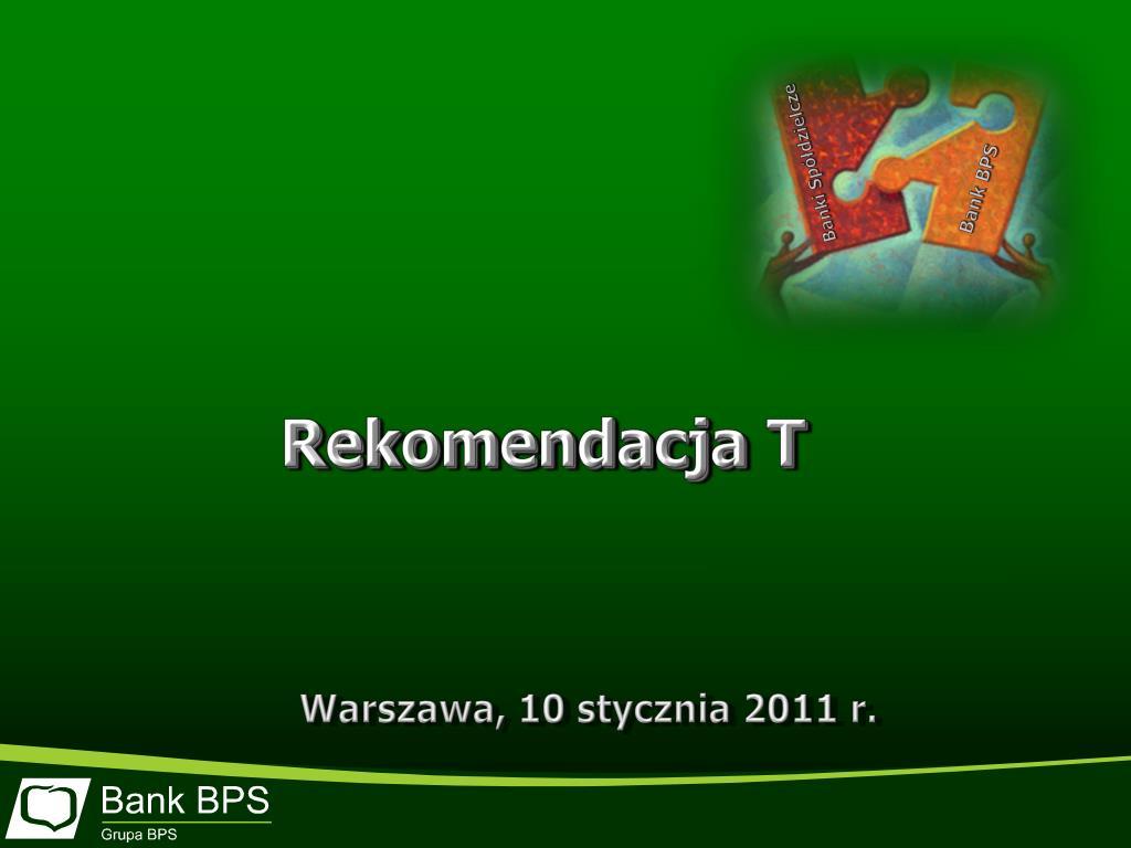 Rekomendacja T