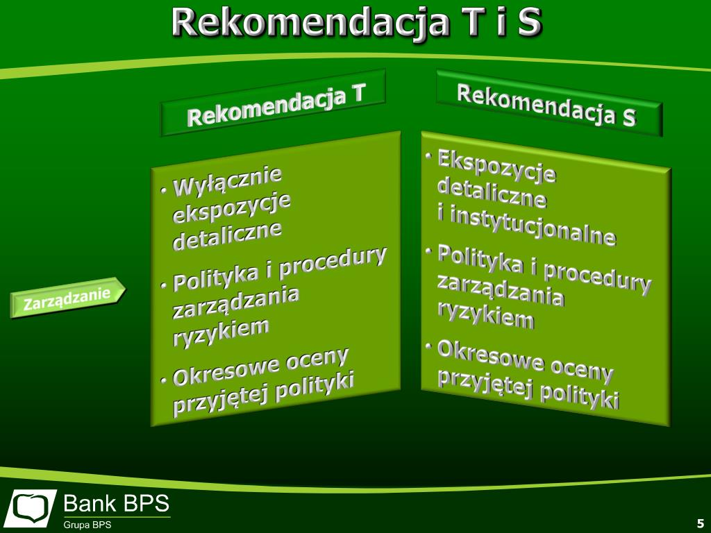 Rekomendacja T i S