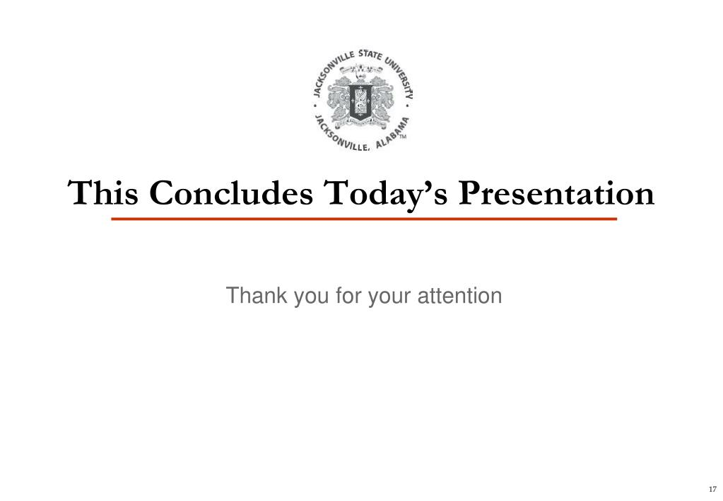 This Concludes Today's Presentation