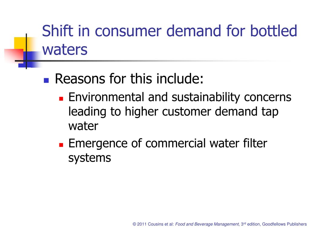 Shift in consumer demand for bottled waters
