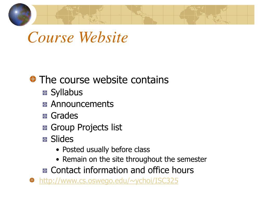 Course Website