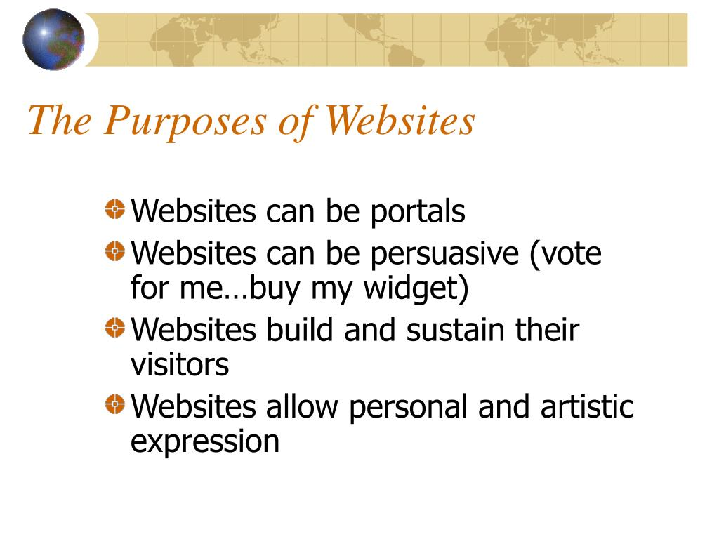 The Purposes of Websites