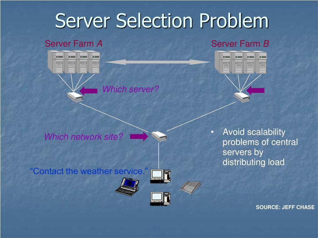 Server Selection Problem