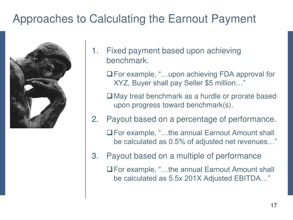 Approaches to Calculating the Earnout Payment