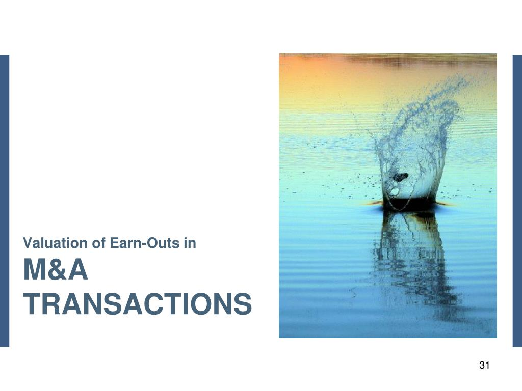 Valuation of Earn-Outs in
