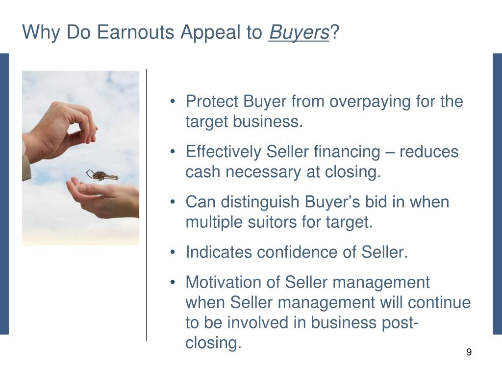 Why Do Earnouts Appeal to