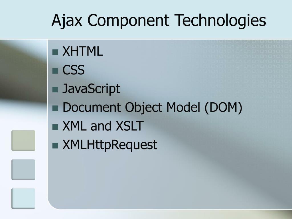 Ajax Component Technologies