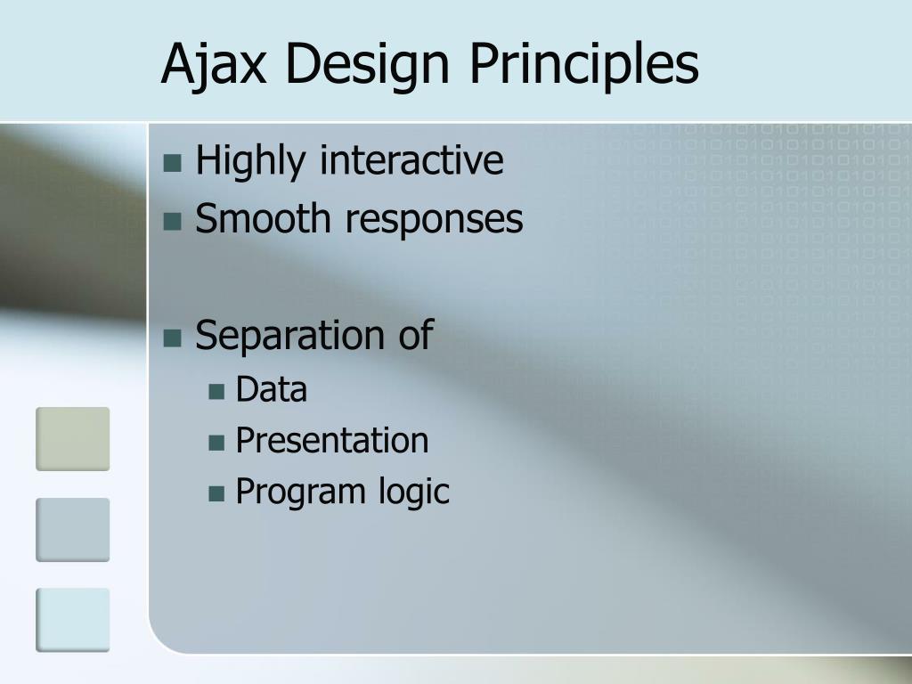 Ajax Design Principles