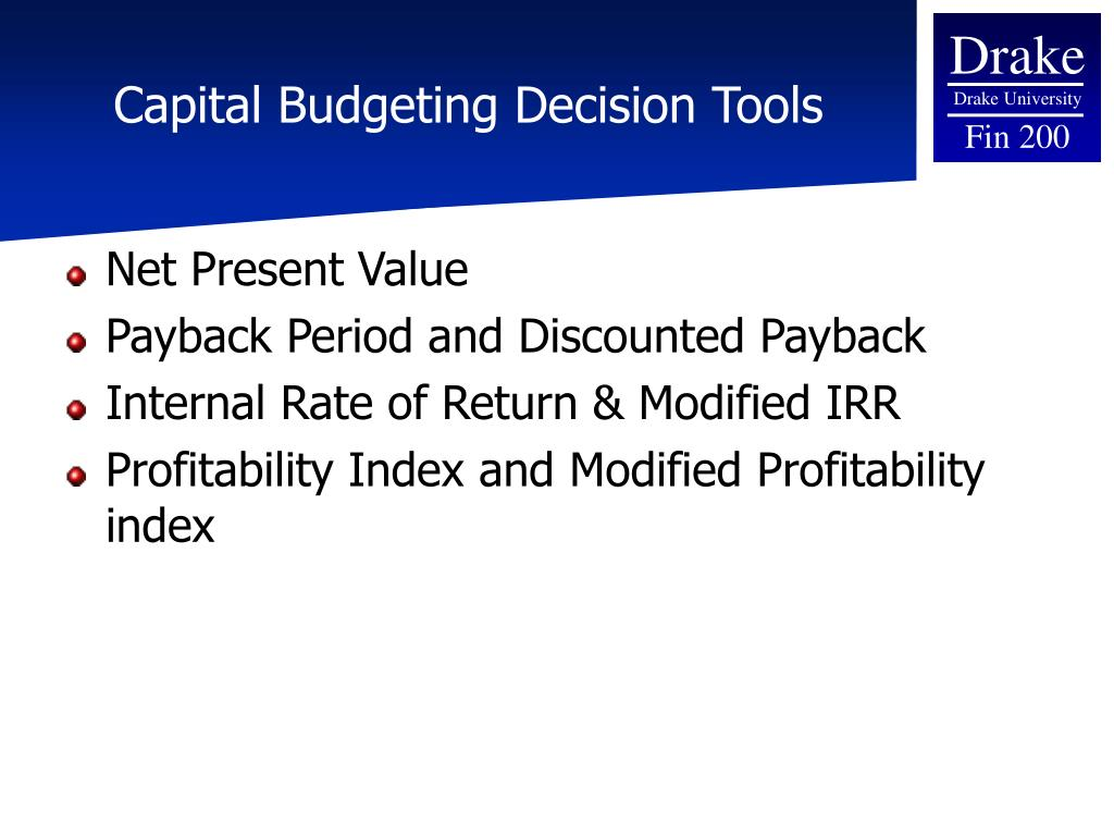 present value and capital budgeting December 1993 capital budgeting for small businesses: an appropriate  modification of net present value john b white georgia southern university.