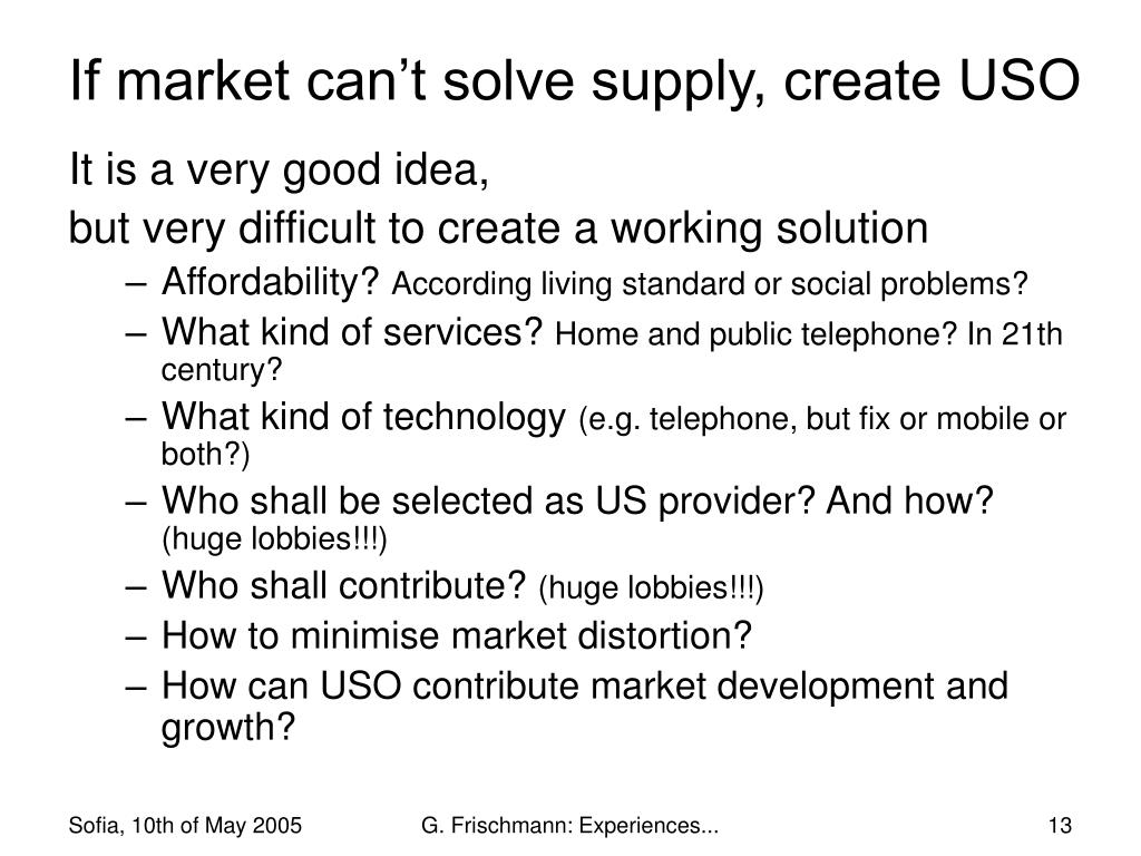 If market can't solve supply, create USO