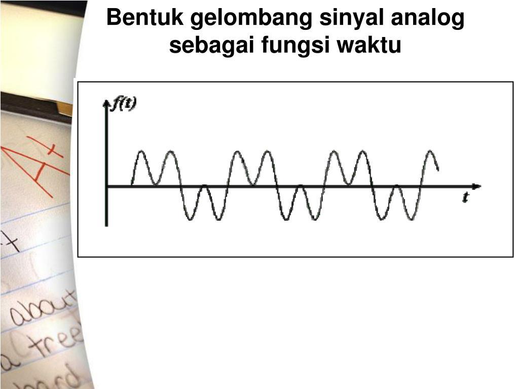 Bentuk gelombang sinyal analog sebagai fungsi waktu