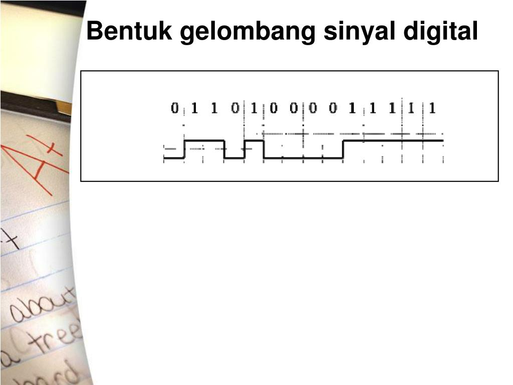 Bentuk gelombang sinyal digital