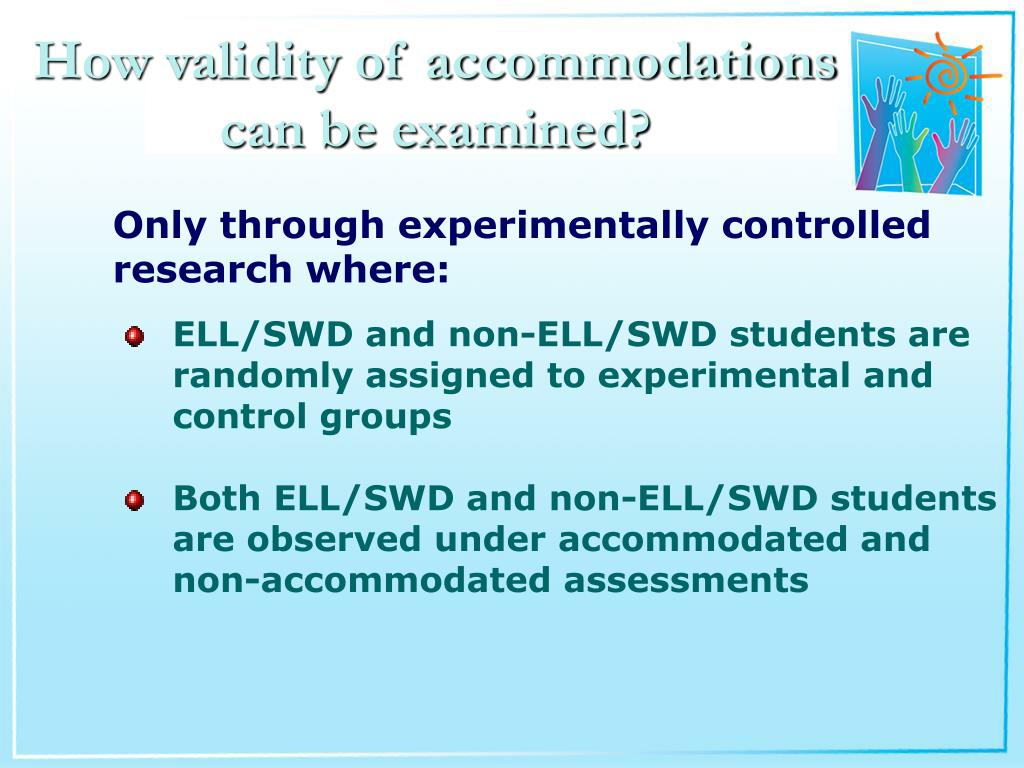How validity of accommodations can be examined?