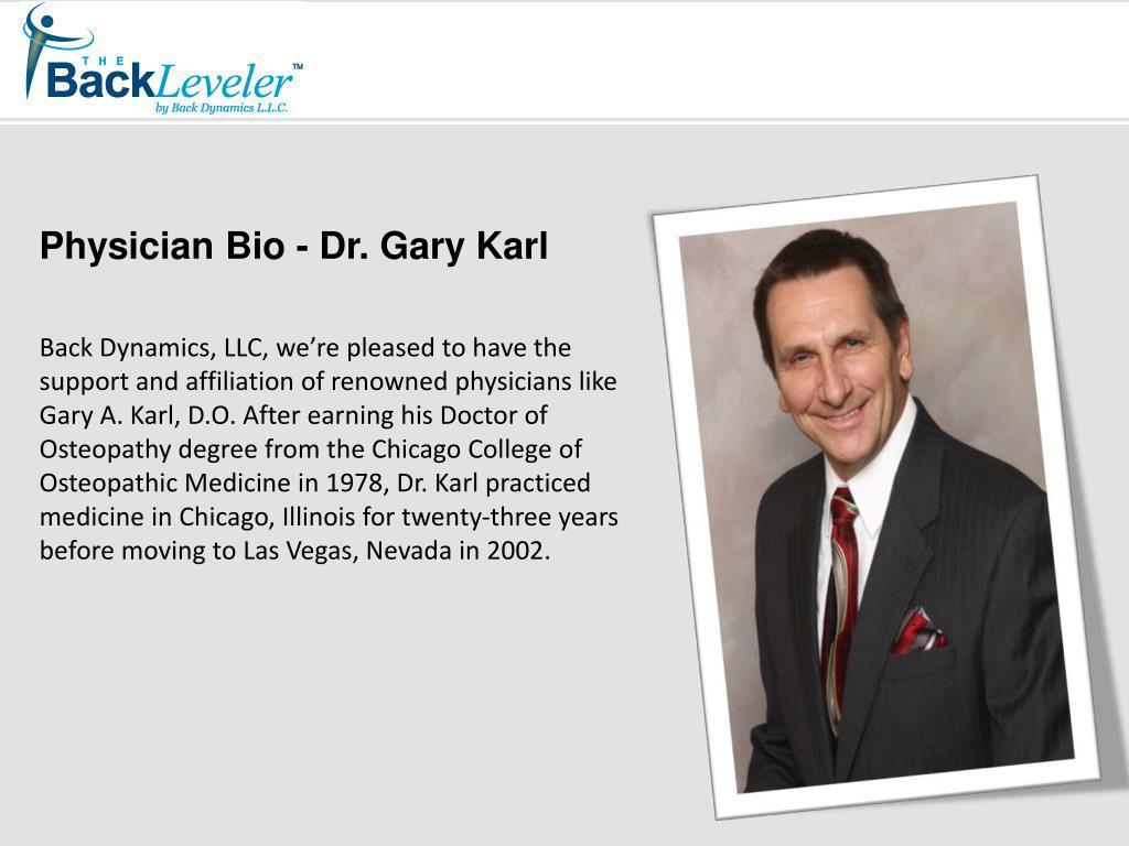 Physician Bio - Dr. Gary Karl