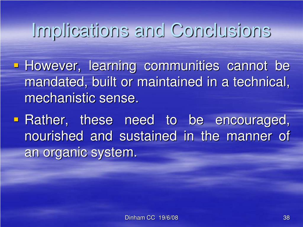 Implications and Conclusions