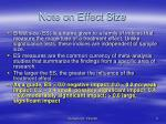 note on effect size