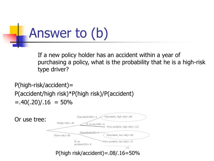 P(accident, high risk)=.08