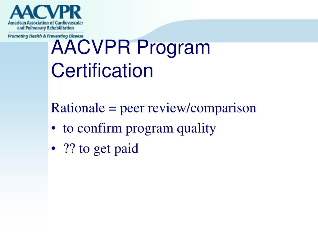 AACVPR Program Certification