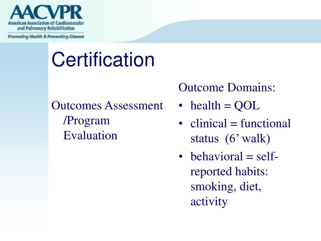 Outcomes Assessment /Program Evaluation