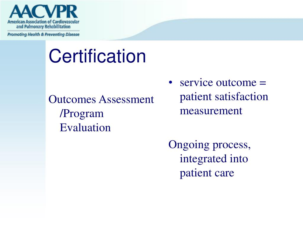 Outcomes Assessment /Program Evaluation