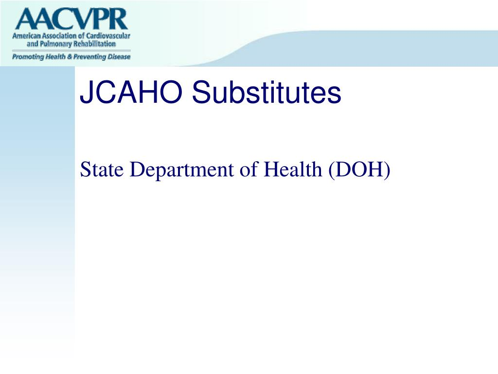 JCAHO Substitutes