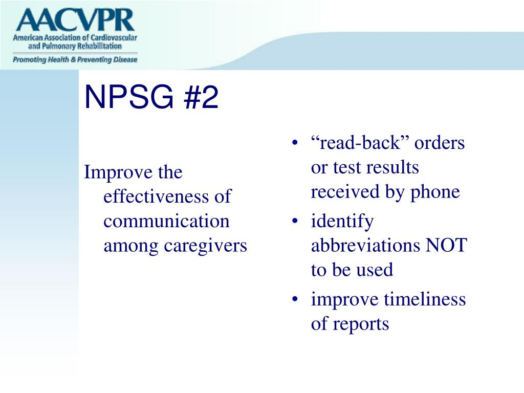 Improve the effectiveness of communication among caregivers