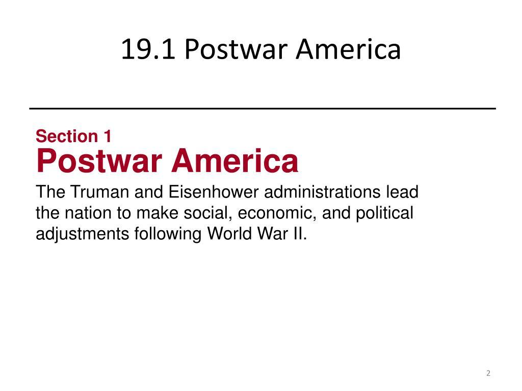 Ppt Chapter 19 The Postwar Boom Powerpoint Presentation