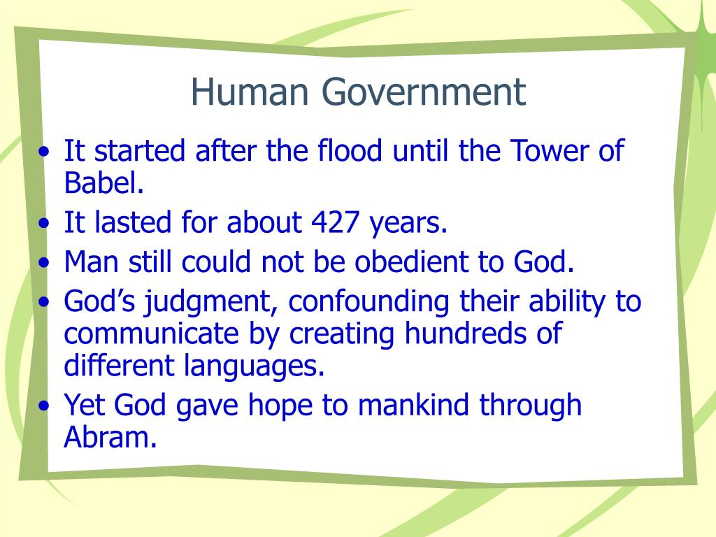 Human Government