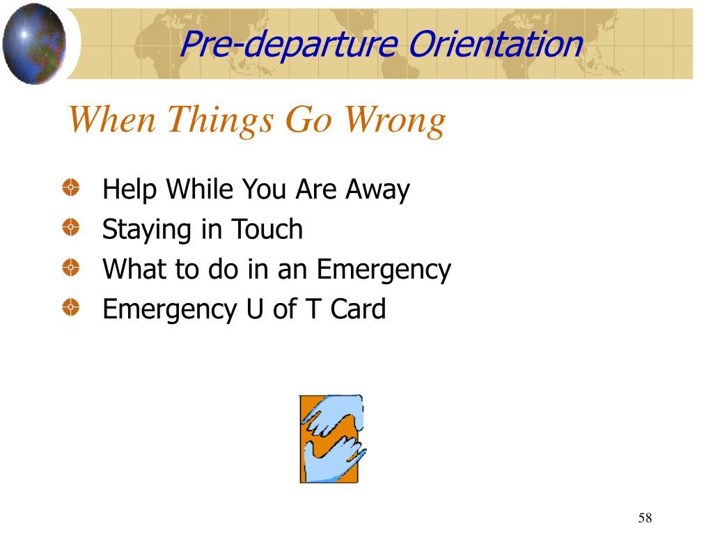 Pre-departure Orientation
