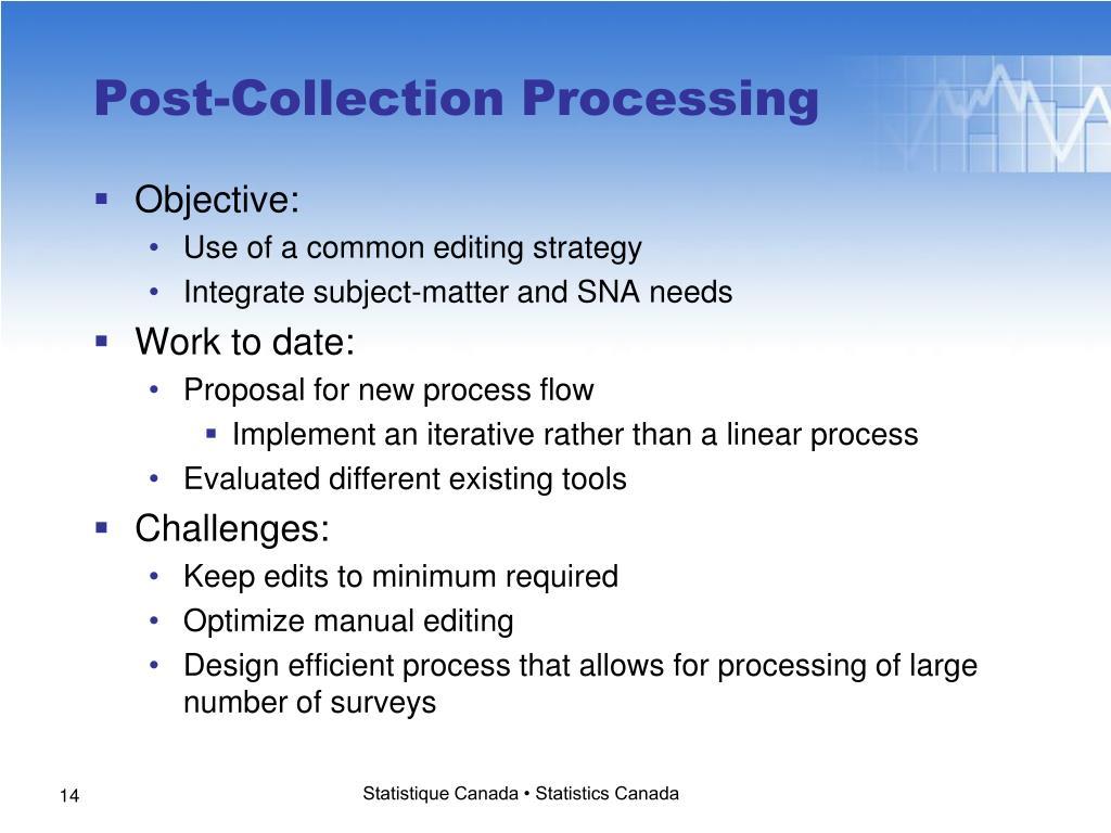 Post-Collection Processing